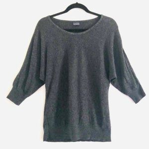 uo Sparkle & Fade Charcoal Gray Dolman Knit Top M